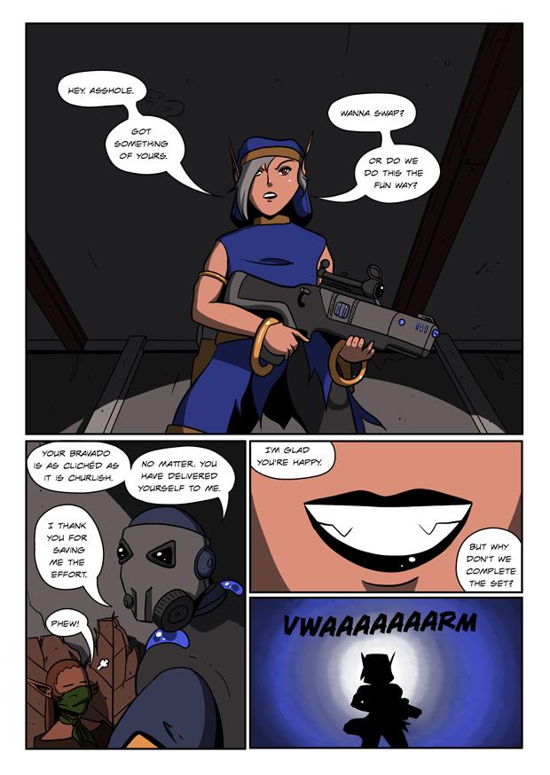 Badasses and clichés... That'd make a good RPG... Hmm...